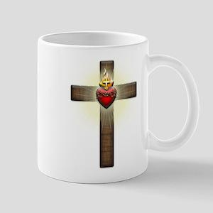 Sacred Heart of Jesus Cross Mug