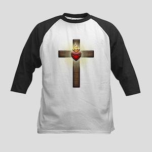 Sacred Heart of Jesus Cross Baseball Jersey