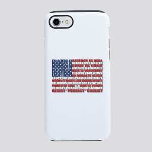 Political Protest American Fla iPhone 7 Tough Case