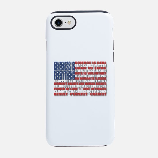 Political Protest American Fla iPhone 7 Tough Case
