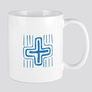 Pretty blue christian cross 2 U E Mug