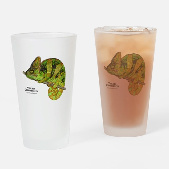 Veiled Chameleon Drinking Glass