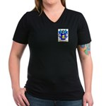Banos Women's V-Neck Dark T-Shirt