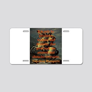 It Is Only By Prudence - Napoleon Aluminum License
