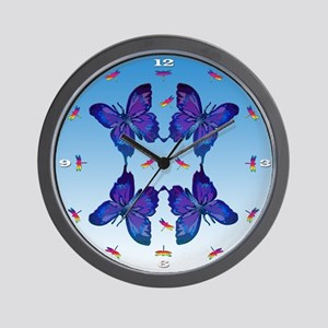 Butterfly & Dragonfly Wall Clock