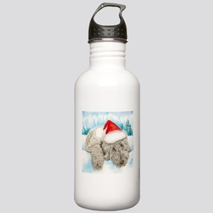 Christmas Labradoodle Water Bottle