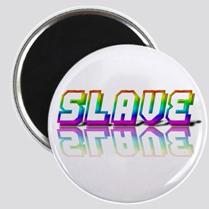 SLAVE RAINBOW TEXT Magnet