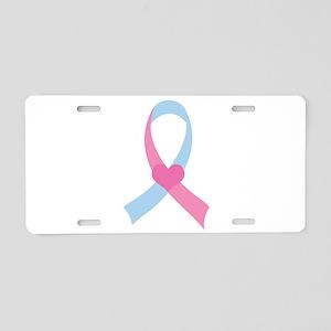 Infant Loss Pink and Blue Ribbon Aluminum License