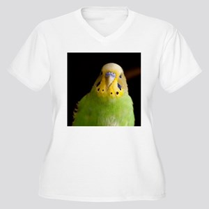 Green Parakeet Women's Plus Size V-Neck T-Shirt
