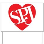 Red SPJ Love Yard Sign