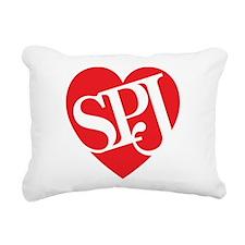 Red SPJ Love Rectangular Canvas Pillow