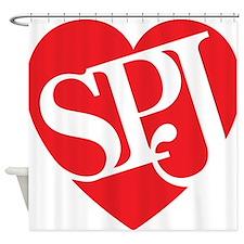 Red SPJ Love Shower Curtain