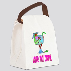 Love Thy Drink Canvas Lunch Bag