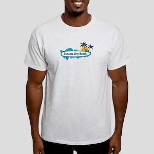Panama City Beach - Surf Designs. Light T-Shirt