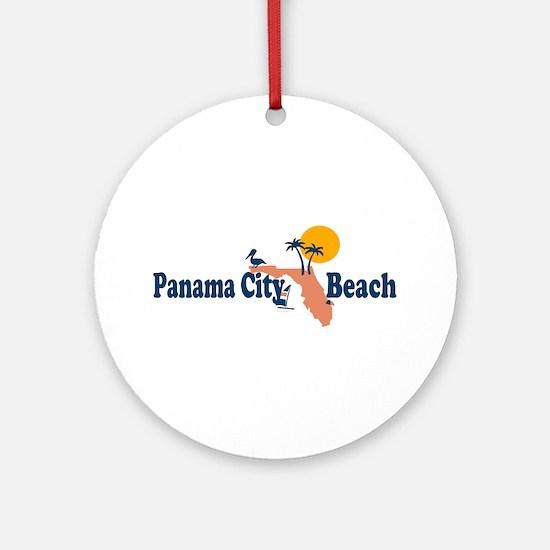 Panama City Beach - Map Design. Ornament (Round)