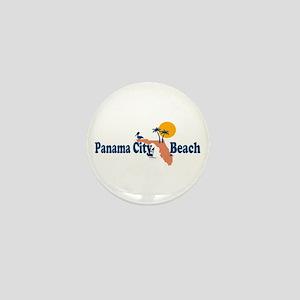 Panama City Beach - Map Design. Mini Button