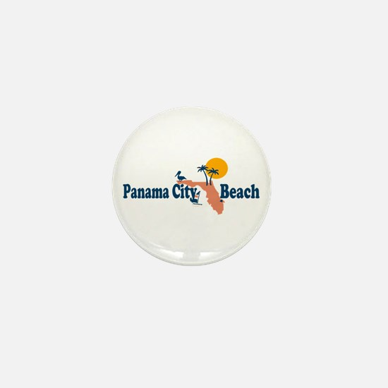 Panama City Beach - Map Design. Mini Button