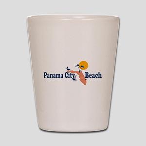Panama City Beach - Map Design. Shot Glass