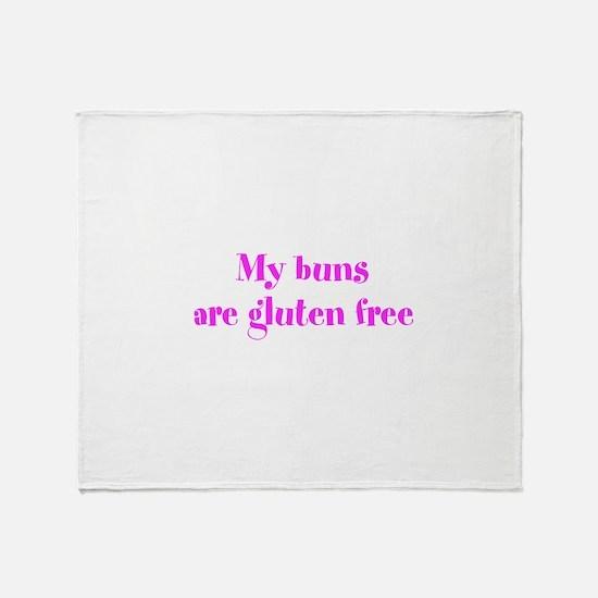 My buns are gluten free Throw Blanket