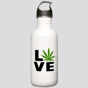 I Love Marijuana Stainless Water Bottle 1.0L