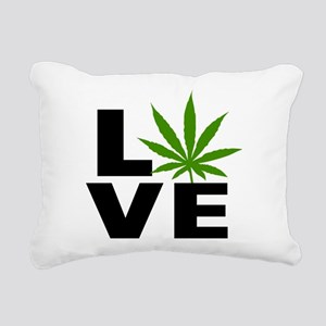 I Love Marijuana Rectangular Canvas Pillow