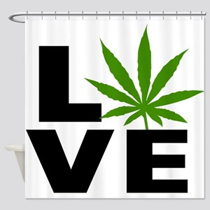 I Love Marijuana Shower Curtain