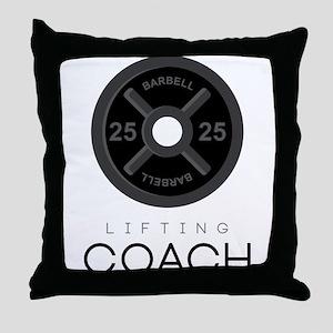 Lifting Coach Throw Pillow