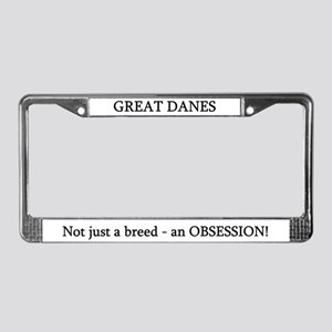 C Fawn Obsess License Plate Frame
