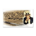 bill of rights 2nd admend1 lp Rectangle Car Magnet