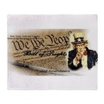 bill of rights 2nd admend1 lp Throw Blanket