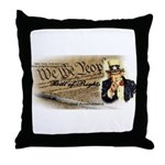 bill of rights 2nd admend1 lp Throw Pillow