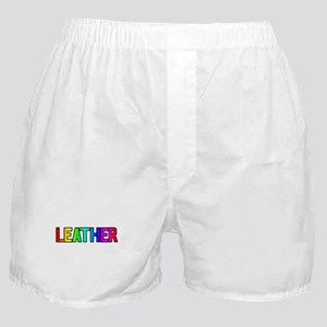 LEATHER RAINBOW TEXT Boxer Shorts