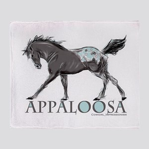 Appaloosa Horse Throw Blanket