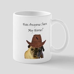 Funny Cowboy Pug Dog Mug
