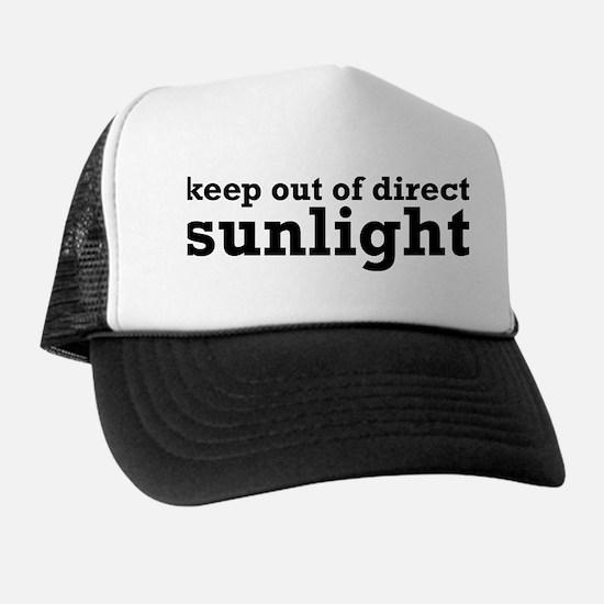 Keep Out Of Direct Sunlight Geek Trucker Hat