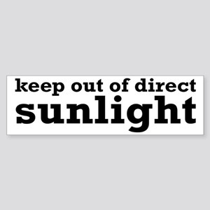 Keep Out Of Direct Sunlight Geek Sticker (Bumper)