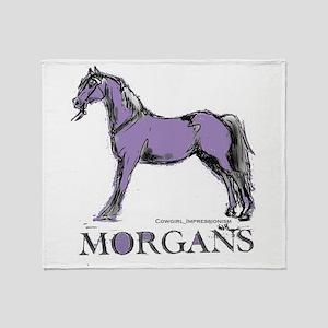 Morgan Horse Throw Blanket