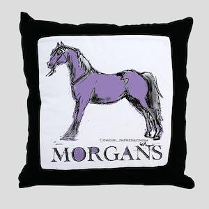 Morgan Horse Throw Pillow