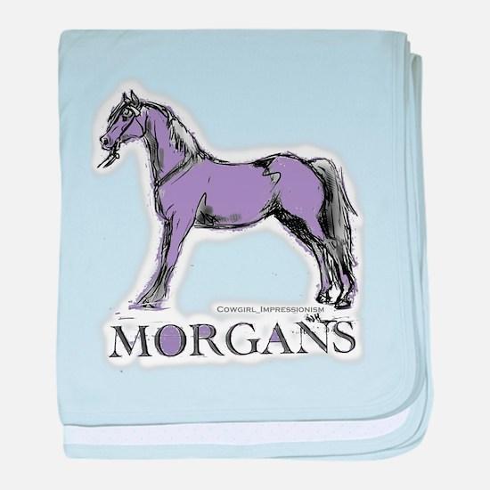 Morgan Horse baby blanket