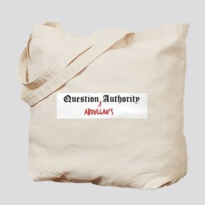 Question Abdullah Authority Tote Bag