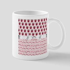 Pink Whimsical Owls Mug