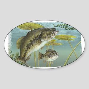 Largemouth Bass, Fish Rectangle Sticker