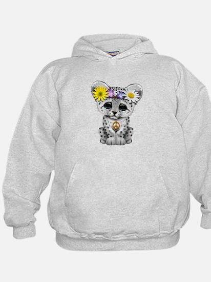 Cute Hippie Snow leopard Cub Sweatshirt