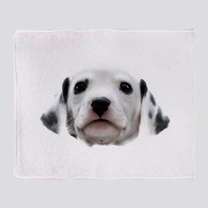Dalmatian Puppy Face Throw Blanket