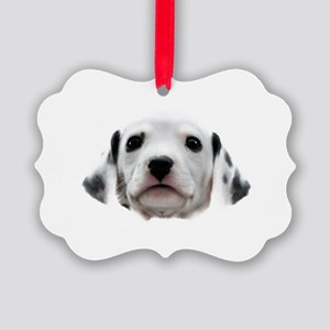 Dalmatian Puppy Face Picture Ornament