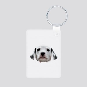 Dalmatian Puppy Face Aluminum Photo Keychain