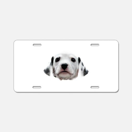 Dalmatian Puppy Face Aluminum License Plate