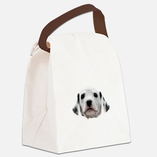 Dalmatian Puppy Face Canvas Lunch Bag