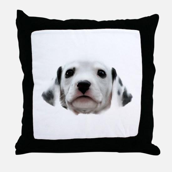 Dalmatian Puppy Face Throw Pillow