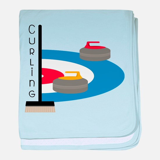 Curling Field baby blanket